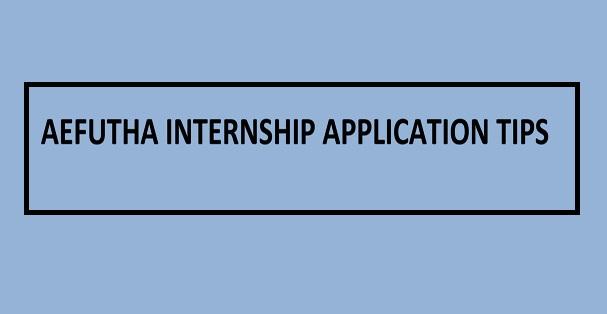 Aefutha (formerly Fetha) Internship Application Tips