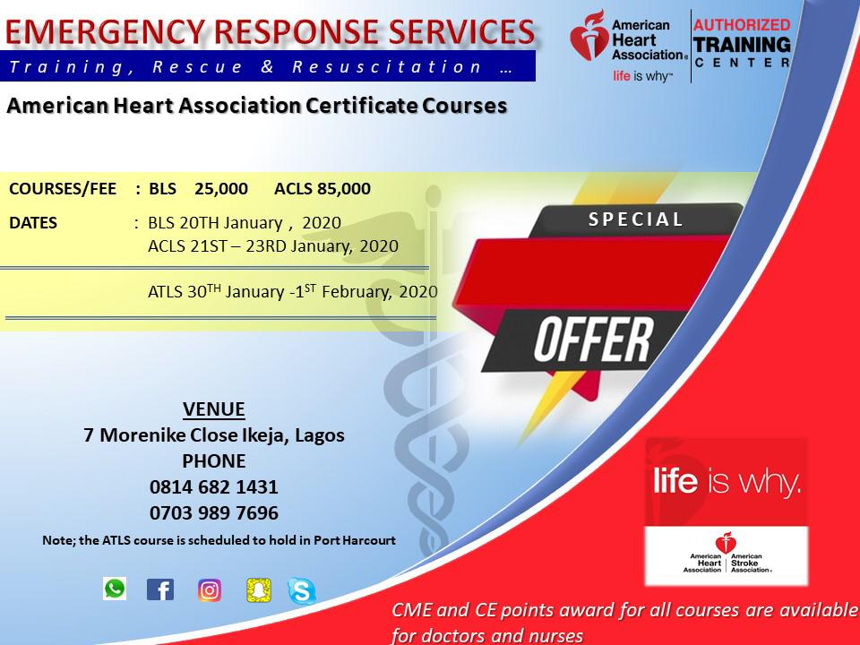 Get Your Bls/acls/atls Training From The American Heart Association/ Emergency C